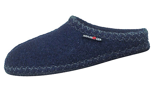 Haflinger Classic Slippers Navy AS20