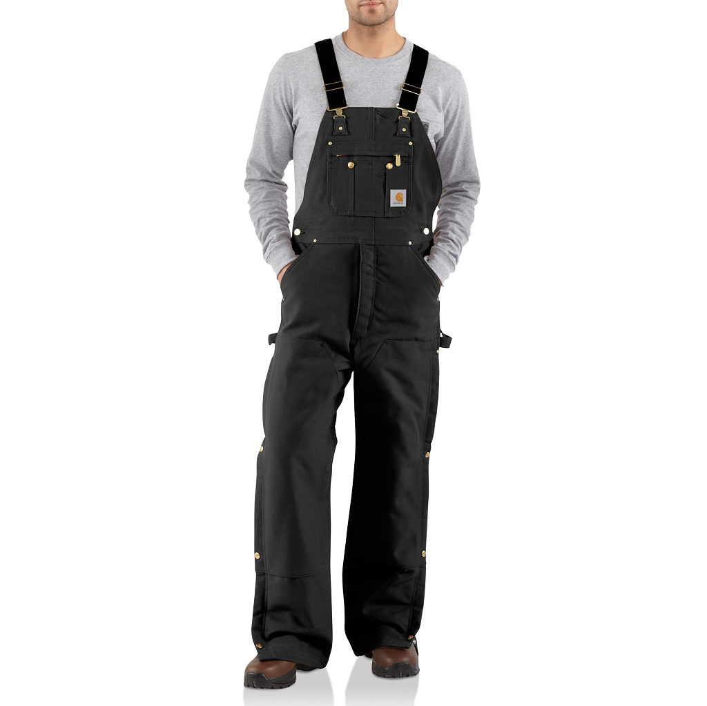 Carhartt Men's Duck Zip-to-Thigh Bib Overall / Quilt Lined R41