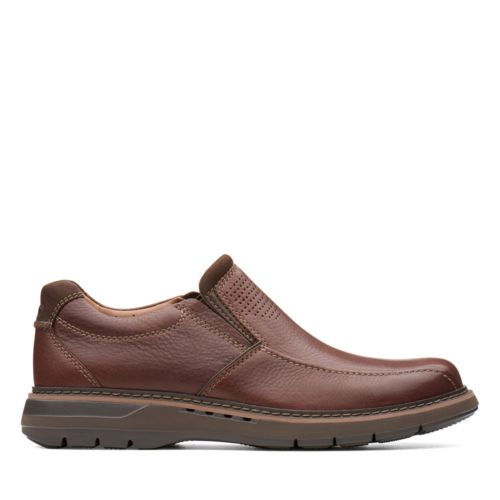 Men's Clarks Un Ramble Step - Mahogany