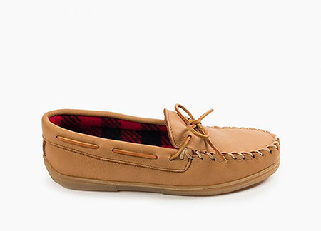 Minnetonka Men's Moosehide Fleece Moc
