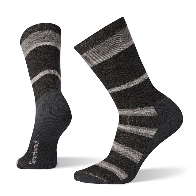 Smartwool Men's Striped Medium Hiking Crew Socks SW001021
