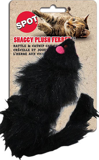 SPOT Shaggy Plush Ferret Catnip Toy 035272