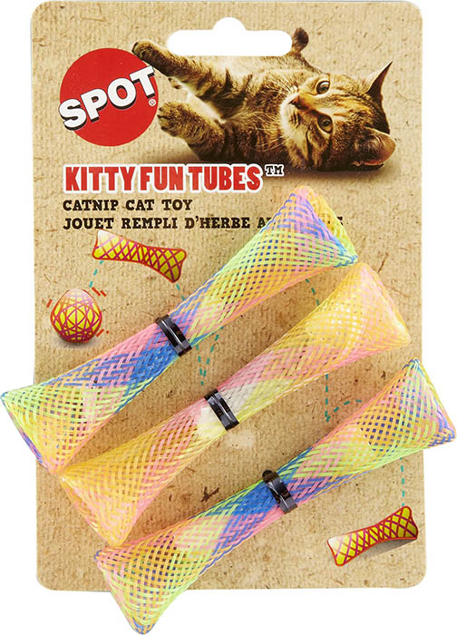 SPOT Kitty Fun Tubes Toy 3 ct. 689715