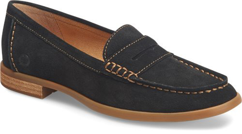 Born Women's BLY Black Suede Loafer