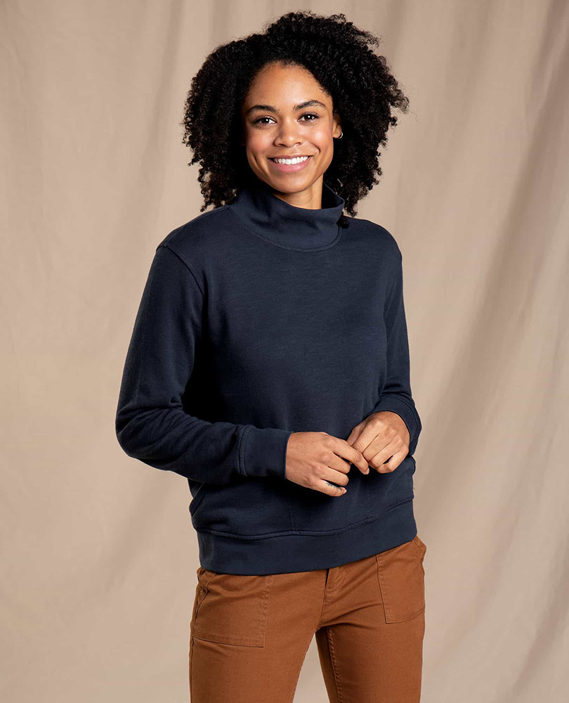 Toad&Co Women's Follow Through Mock Neck Sweater FX
