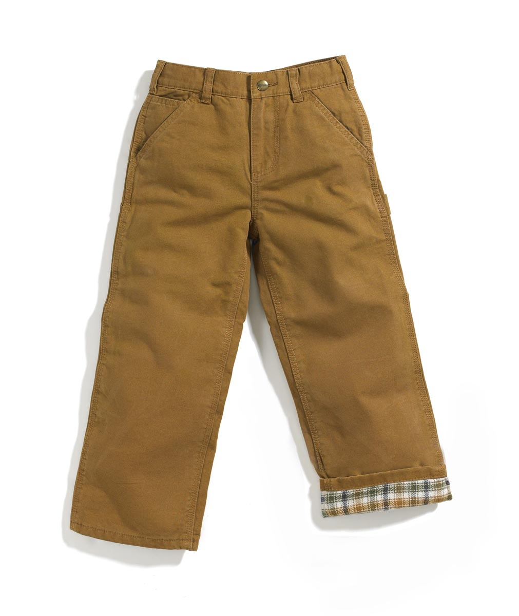 Carhartt Boys' Flannel Lined Dungaree Pant sizes 4-7