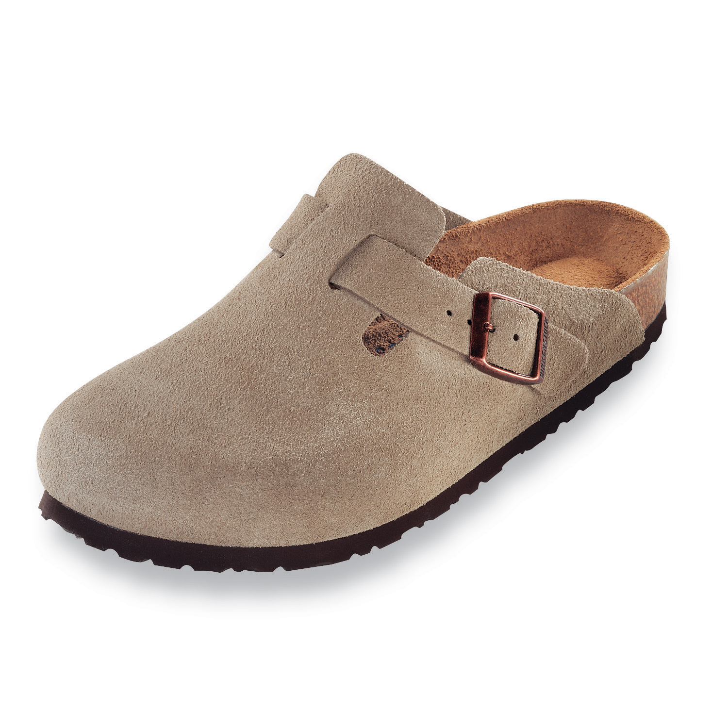 Birkenstock Boston Soft Footbed Taupe Suede 560771