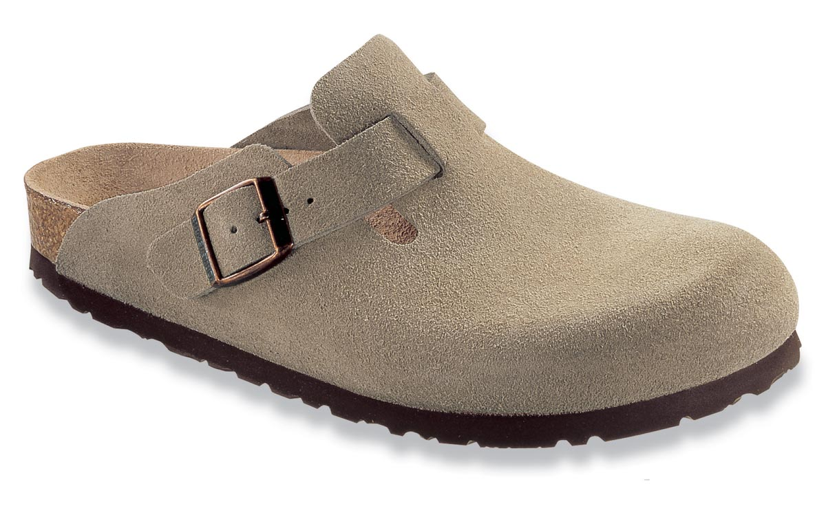 Birkenstock Boston Taupe Suede Narrow 60463