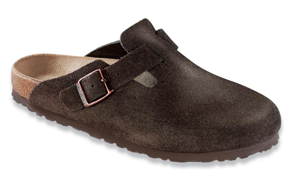 Birkenstock Boston Mocha Suede Narrow 60903