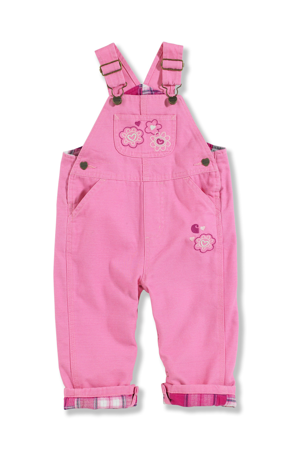 Carhartt Infant Girl's Washed Microsanded Canvas Overalls CM9629